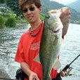 河口湖のデカバスはTAKEさんメロメロ 45.5cm
